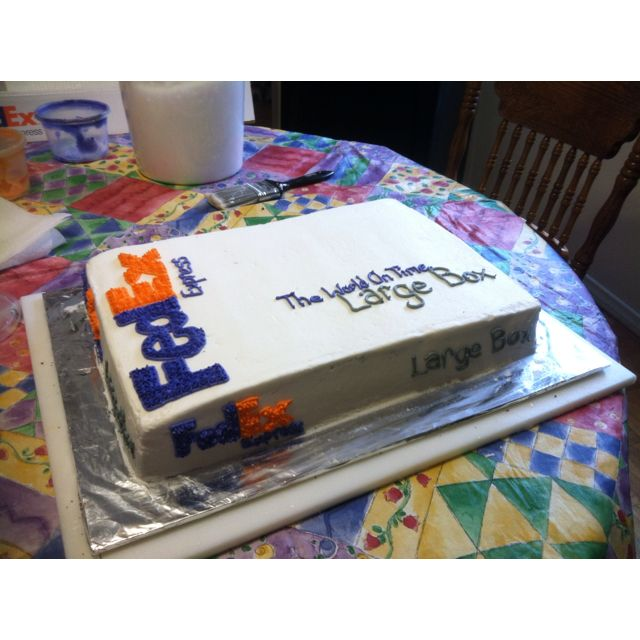 Fedex Shipping Box Cake Dessert Delivery Cake Box Cake