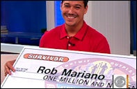 ITS ABOUT TIME! Boston Rob returns for the 4th time for season 22:redemption island and plays a near perfect game. He FINALLY (and deservedly) won. Despite the fact he plays so manipulatively, you can't help but love this dude.