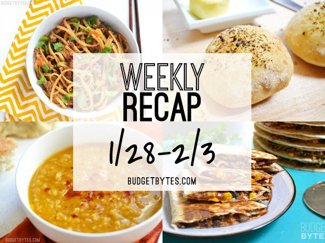 Hello friends! It's time for another weekly recap.I had a pretty low-key week as far as grocery shopping and cooking is concerned. I knew I wanted to take time to post about freezing leftovers last week, so I chose all easy recipes. I made two new recipes,Stir Fry Beef Noodles and Curried Red Lentil and...Read More