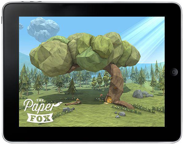 The Paper Fox - App by Jeremy Kool, via Behance