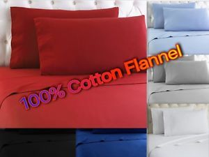 a heavy winter flannel 100 cotton sheet set fitted flat pillow cases deep pocket