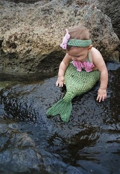 This mermaid would rather swim than walk anyway. | 19 Creative Costumes For Babies Who Are Too Young To Walk