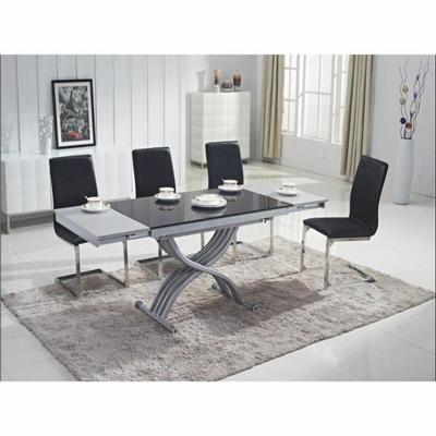 Table basse relevable Zen Finition plateau laqué noir - Table basse relevable dépliante. Meuble gain de place! La table basse relevable ZEN sert à la fois de table basse et de