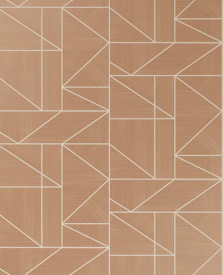 Crown Alexis Geo Vinyl Wallpaper ,Crown M1382 Wallpaper, rose gold geometric wallpaper. rose gold/ivory geometric wallpaper, geometric wallpaper