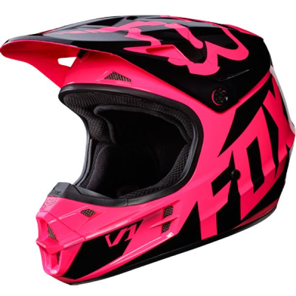 Casque cross femme FOX V1 Race Rose 2017
