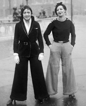 French women wearing pants. 1922