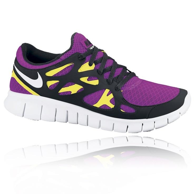 Nike Women\u0027s Free Run+ 2 Running Shoes (Purple)