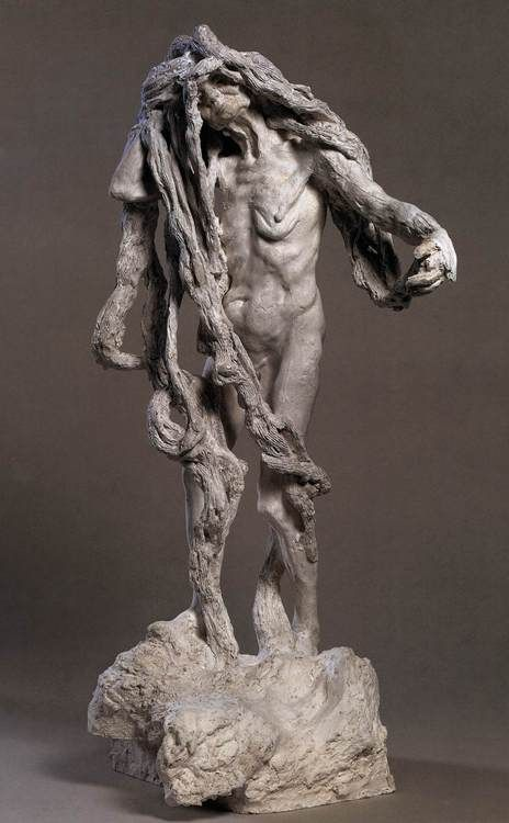 Camille CLAUDEL (French sculptor (1864-1943)  Clotho  1893  Plaster, height 90 cm  Musee Rodin, Paris