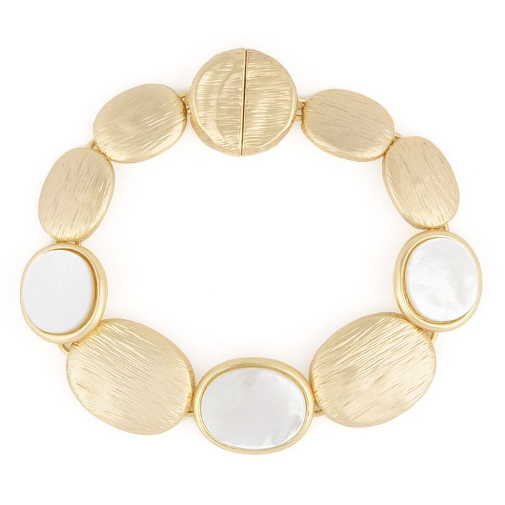 For the stylish mommies who loves minimalist yet classy style of jewelries. The iridescent colors of mother of pearl, make this bracelet elegantly beautiful.