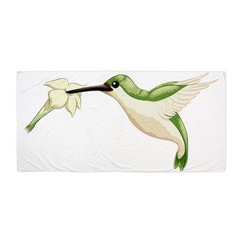 Hummingbird Beach Towel from cafepress store: AG Painted Brush T-Shirts. #hummingbird #towel #beach