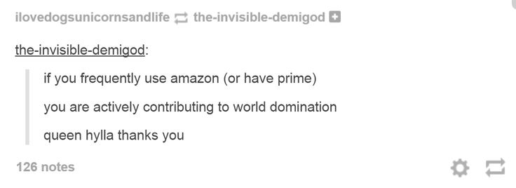 It's a dam Percy Jackson thing.<< in always happy to support The Amazons world wide domination
