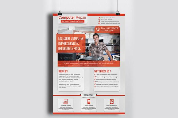 Computer Repair Flyer Template | Flyer Template