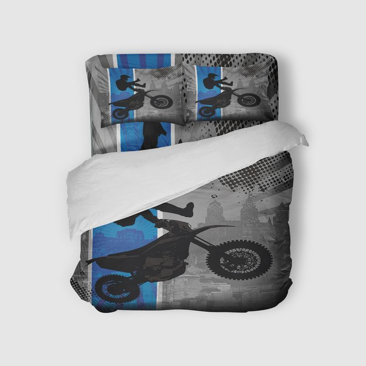 Dream In Extreme Motocross Sheet Set in Blue from Extremely Stoked