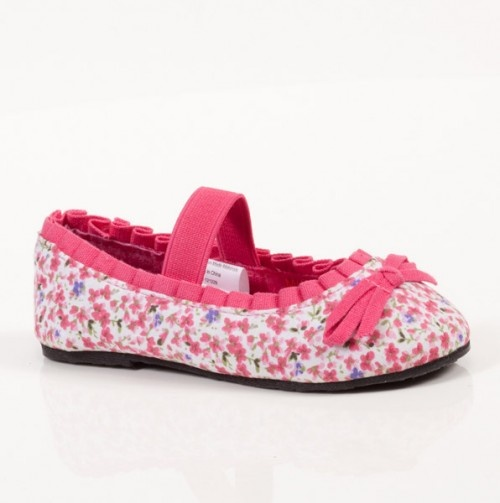 Toddler Floral Print Ballet Flats - Under $10: Girls Ballet Flats - Events