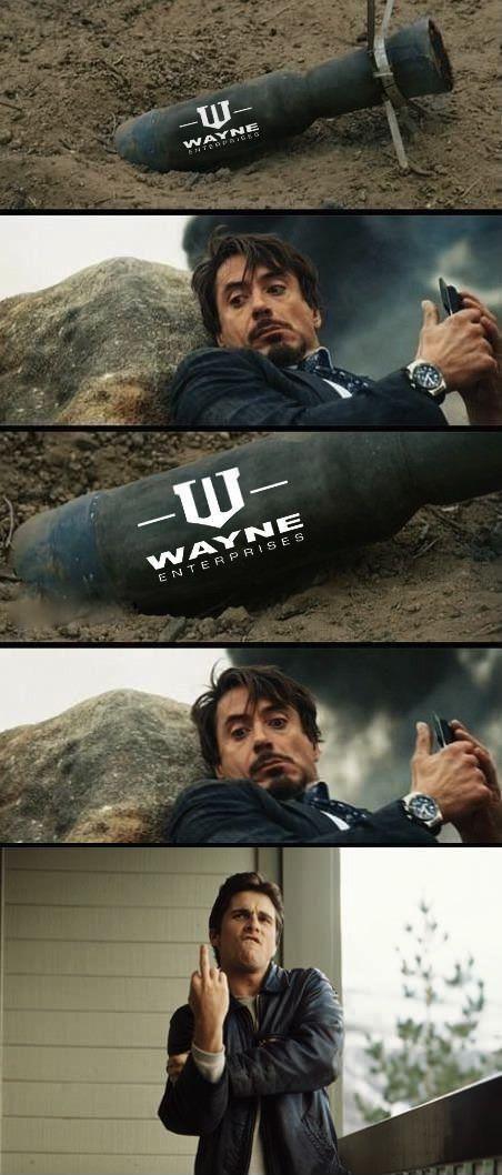 Iron man vs Batman meme - http://www.jokideo.com/iron-man-vs-batman-meme/