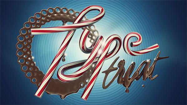 Type Treat by Alex Beltechi, via Behance #lettering #illustration