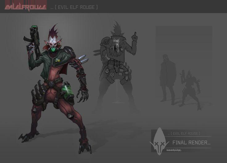 Evil elf rouge, Bazuzu #11 on ArtStation at https://www.artstation.com/artwork/evil-elf-rouge