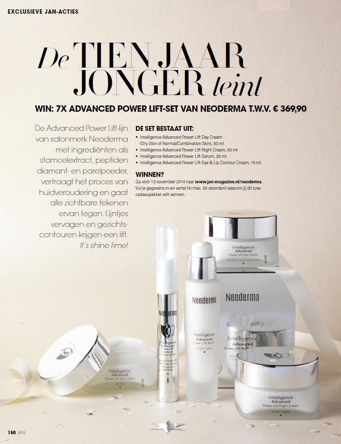 JAN Magazine - Neoderma winactie