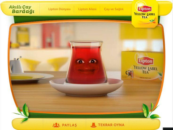 Oyun bisikletinde yayınlanan lipton akıllı çay bardağı oyunundan bir kare. Oyunu oynamak için http://www.oyunbisikleti.com/akilli-cay-bardagi