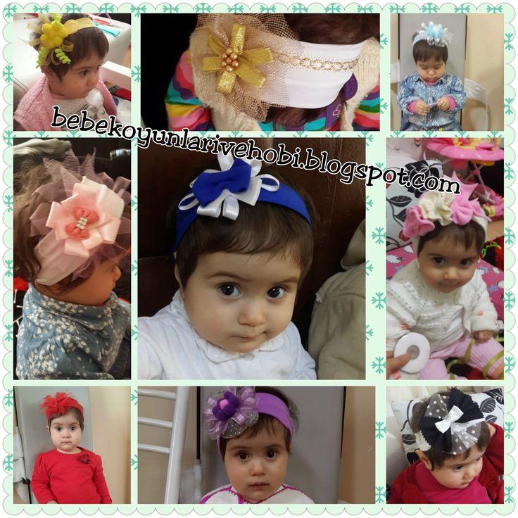 Bebek oyunları: anne yapımı saç bantları