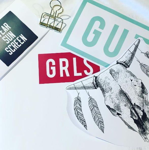 New designs! Soon online! #girlsbehindguts #gutsgusto
