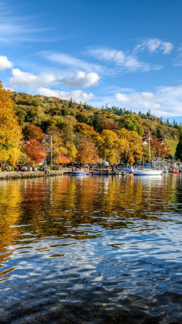 The bustling Lake District villages of Windermere and Ambleside are situated around lake Windermere, England's longest lake.  Go to www.YourTravelVideos.com or just click on photo for home videos and much more on sites like this.