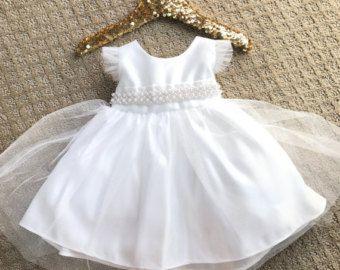 Niño pequeño bebé niña bautizo vestido bebé por BabyGalore0 en Etsy