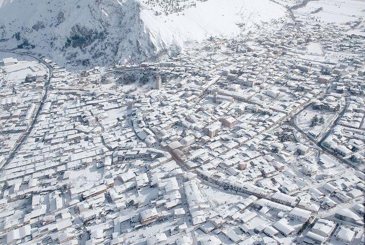 #Marsica, #Avezzano sotto la neve (foto MarsicaLive)