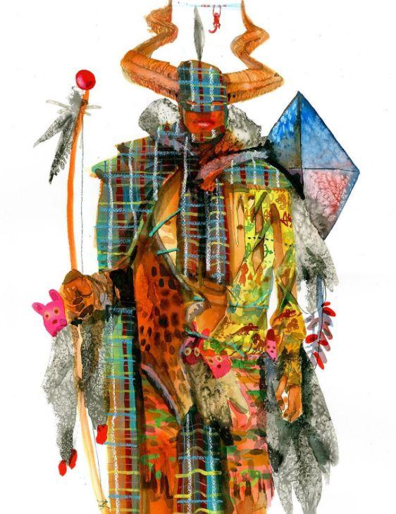 """David Choe """"Kite Man"""", 2017"""
