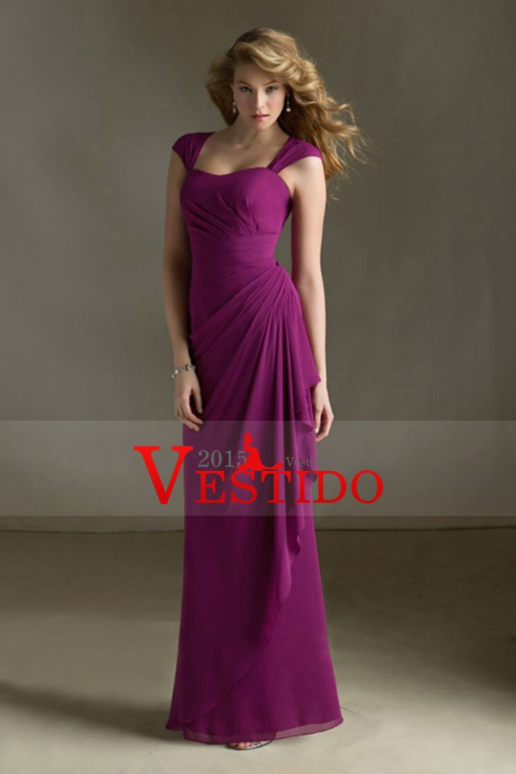 17 best damas images on pinterest bridesmaid convertible purple chiffon removable cap sleeve long keyhole back draped bridesmaid dress ombrellifo Gallery