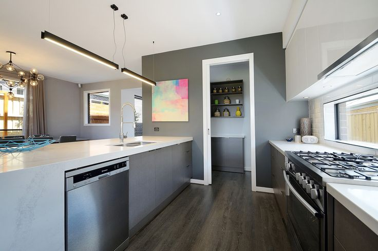 Love the laminate flooring chosen by Kialla Homes. This contemporary home was featured on Best Houses Australia on Channel 7TWO. Interior design Empire Interiors | Lee Bird Photography  #godfreyhirstflooring #theflooringexperts #hardflooring #interiordesign #kiallahomes #channel7two #laminateflooring #laminatefloors #leebirdphotography #besthousesaustralia