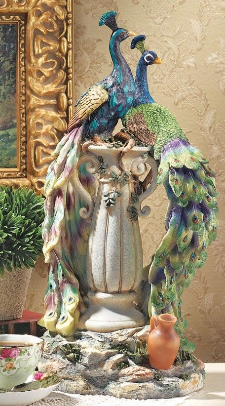 Peacocks in Paradise Statue by Design Toscano / Wayfair