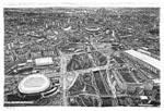 cityscapes by autistic savant Stephen Wiltshire: Magnificent Art, Favorite Art, Autist Savant, London Olympics, Olympics Site, Aerial View, 2012 London, Autist Artists, Savant Stephen