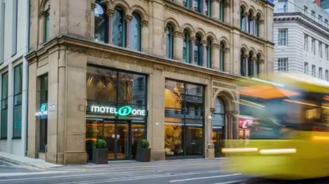 """New! ✨Motel One Manchester-Royal Exchange ✨  The city of Manchester's history as a former centre of the cotton trade is reflected in the beautiful design of our latest Motel One.  Now you can stay at the heart of this dynamic city right across from the Royal Exchange Theatre.  See you soon! 😀"" by @motel_one."