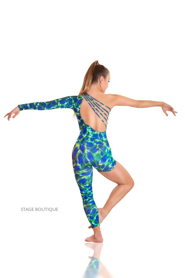 75a66f70b718f Blue Green Contemporary Unitard Dance Costume Stage Boutique ...