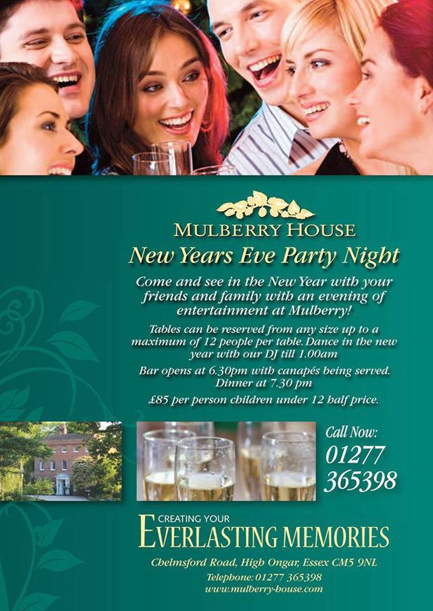 By Mulberry House @Mulberry House Celebrate New Year's Eve At Mulberry House... http://www.mulberry-house.com/