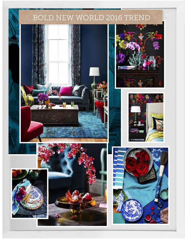We've just created this beautiful moodboard using the House Rules powered by Home Beautiful App. Love it? #houserulesapp #homebeautiful #homelove #colour #oriental #blue #mood #trend