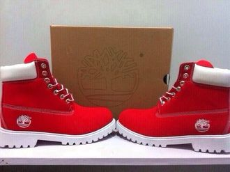 timberland rouge et blanche femme