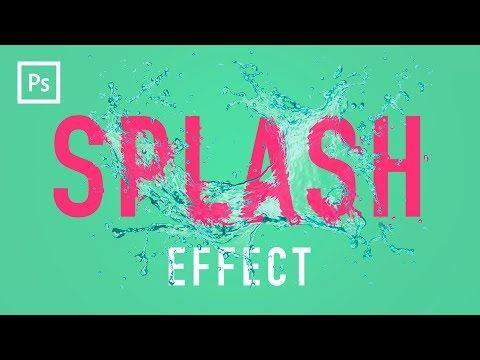 Photoshop Tutorials - Water Splash Effect (Displacement