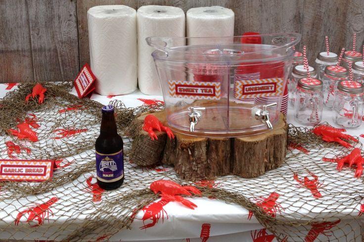 Crawfish Boil: Beverage station