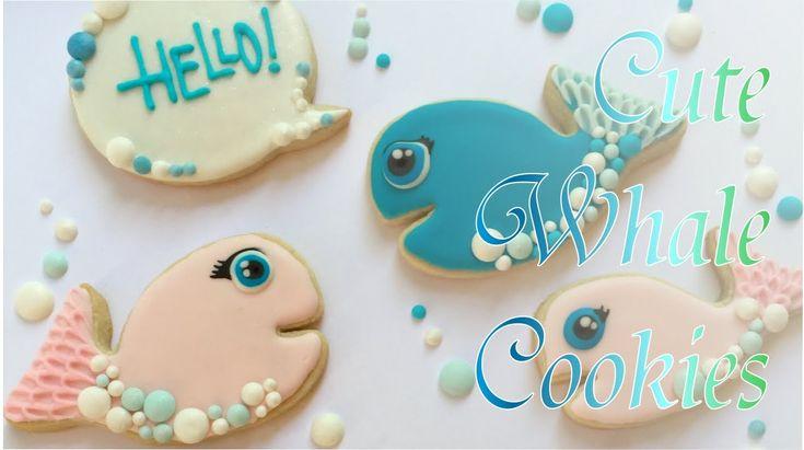 7:30 Cute Whale Cookies