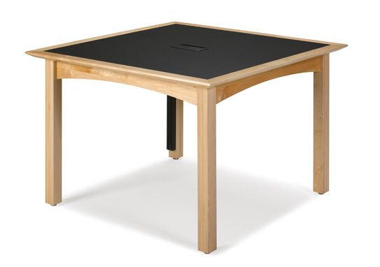 Timeless CrossRoads tables enhance any classroom setting with its clean, transitional style and understated details. CrossRoads classroom tables feature a tapered knife-edge design and mitered corners. Shapes include panel leg, rectangular, square and round. Match any classroom décor with five standard finishes available on maple or oak.