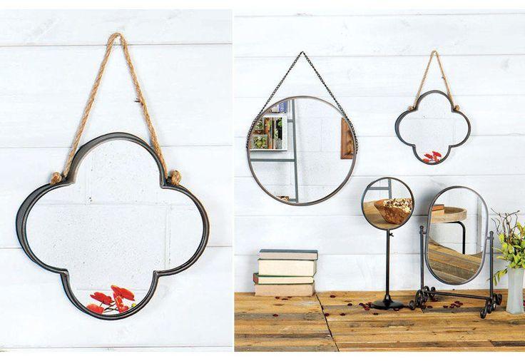 Clover Mirror, Silver Clover Mirror, Silver Clover Wall Mirror, Metal Clover Mirror, Clover Mirror, Clover Wall Mirror, Eclectic Mirrors
