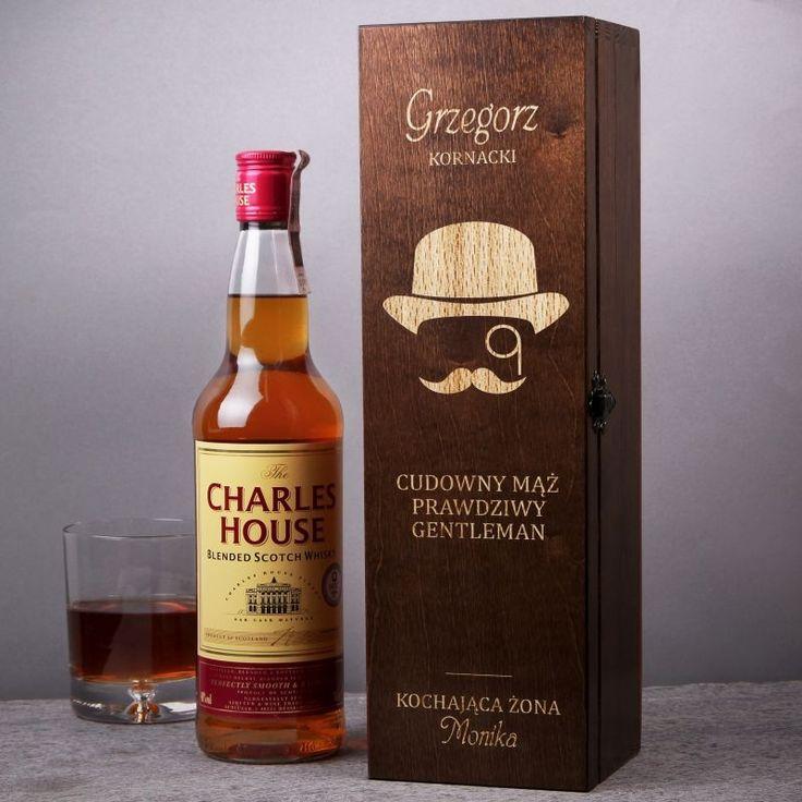 Skrzynka personalizowana na whisky  MĄŻ GENTLEMAN