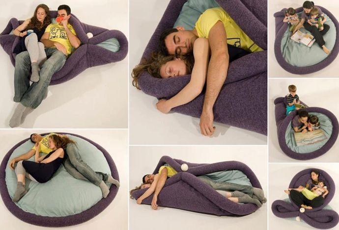 Non conventional  Sofa: Blandito Pillow: Ideas, Transformable Pad, Stuff, Awesome, Bed, House, Things, Products, Design