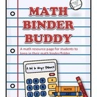 ($) The Math Binder Buddy is the perfect resource sheet for students to add to their math binder or folder. It includes quick tips that will help stude...Classroom Stuff, Schools Math, Math Resources, Math Classroom, Schools Ideas, Teaching Math, Binder Buddy, Math Binder, 3Rd Grade