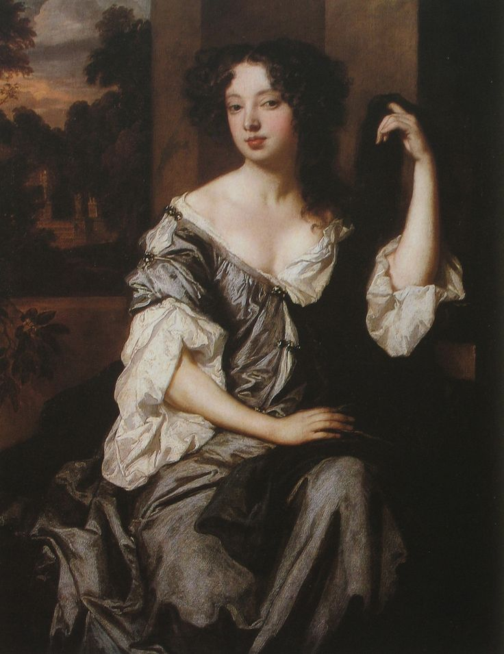 1671 ~ The Duchess of Portsmouth by Sir Peter Lely. Louise Renée de Penancoët de Kérouaille, Duchess of Portsmouth (6 September 1649 – 14 November 1734) was a mistress of Charles II of England. Through her son by Charles II, Charles Lennox, 1st Duke of Richmond, she is ancestress of both wives of Prince Charles: Diana, Princess of Wales, and Camilla, Duchess of Cornwall. Only 400 years to come back full circle.