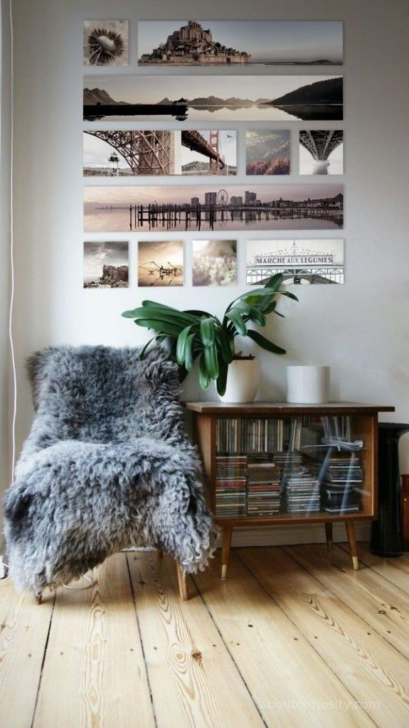 25 beste idee n over wand fotocollages op pinterest for Home decoration meester