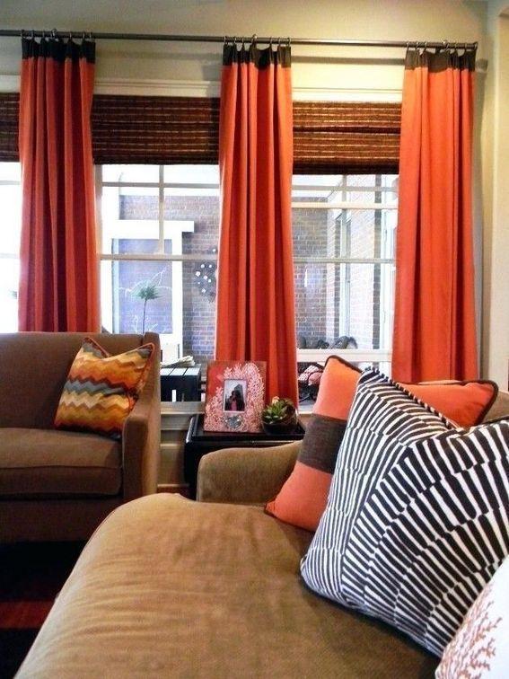 24 The Burnt Orange Curtains Living Room Interior Design