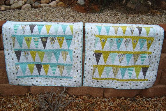 Baby Banner Quilt Pattern by nbmerrill on Etsy, $7.00    These are more like my colors.Etsy, Quilt Patterns, Sweets Quilt, Colors, Quilt Stuff, Banners Quilt, Baby Banners, Modern Quilt, Baby Quilt